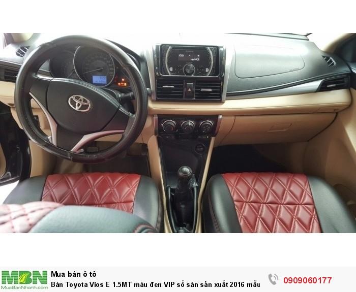 Bán Toyota Vios E 1.5MT màu đen VIP số sàn sản xuất 2016 mẫu mới máy mới