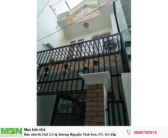 Bán nhà 46,7m2 đường Nguyễn Thái Sơn, P.7, Gò Vấp