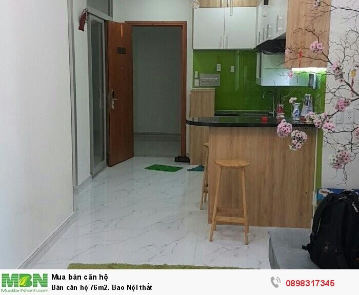 Bán căn hộ 76m2. Bao Nội thất