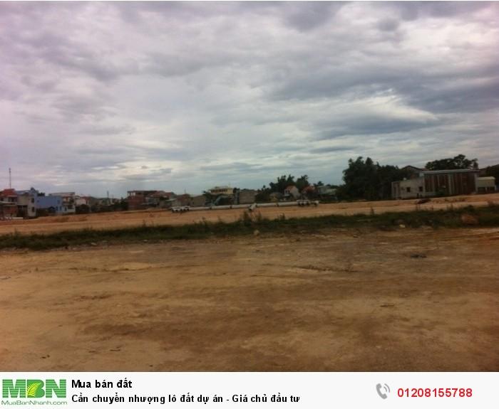 Cần chuyển nhượng lô đất dự án - Giá chủ đầu tư