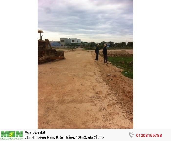 Bán  lô hướng Nam, Điện Thắng, 100m2, giá đầu tư