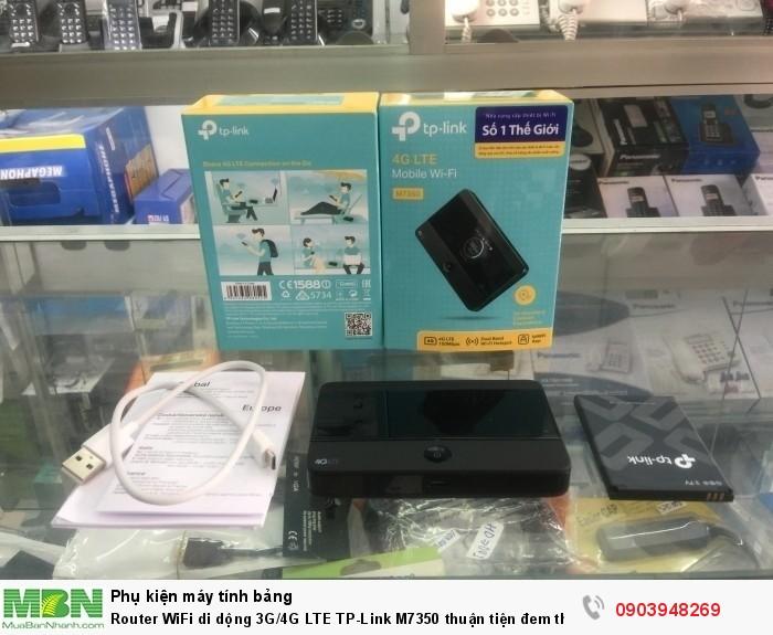 Router Wifi di động 4G TP-Link M7350 cung cấp kết nối không dây 4G chia sẻ đến 15 người dùng cùng lúc