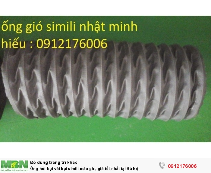 Ống hút bụi vải bạt simili màu ghi, giá tốt nhất tại Hà Nội1