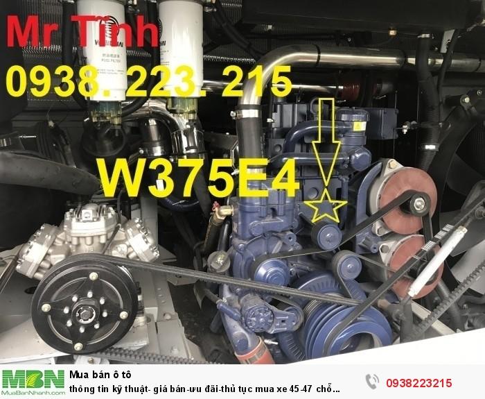 Thông tin kỹ thuật- giá bán-ưu đãi-thủ tục mua xe 45-47 chỗ thacotb120s động cơ weichai 375ps e4 đời 2018 mới nhất