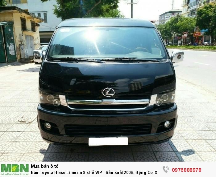 Bán Toyota Hiace Limozin 9 chỗ VIP , Sản xuất 2006, Động Cơ Xăng 2.7 Màu Đen Biển Hà Nội