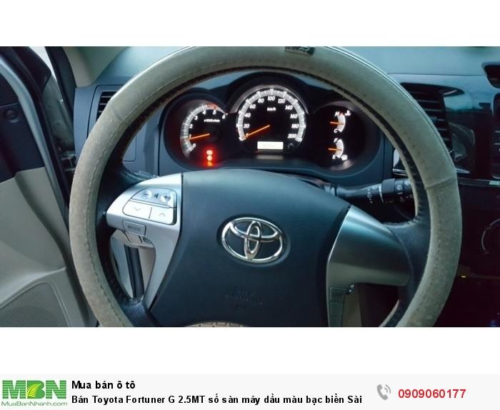 Bán Toyota Fortuner G 2.5MT số sàn máy dầu màu bạc biển Sài Gòn sản xuất 2014 một đời chủ