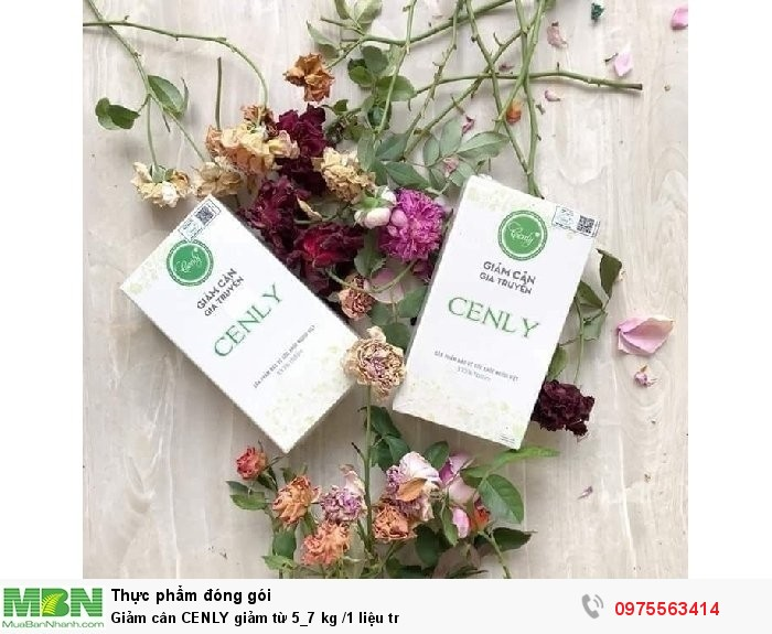 Giảm cân CENLY giảm từ 5_7 kg /1 liệu tr0