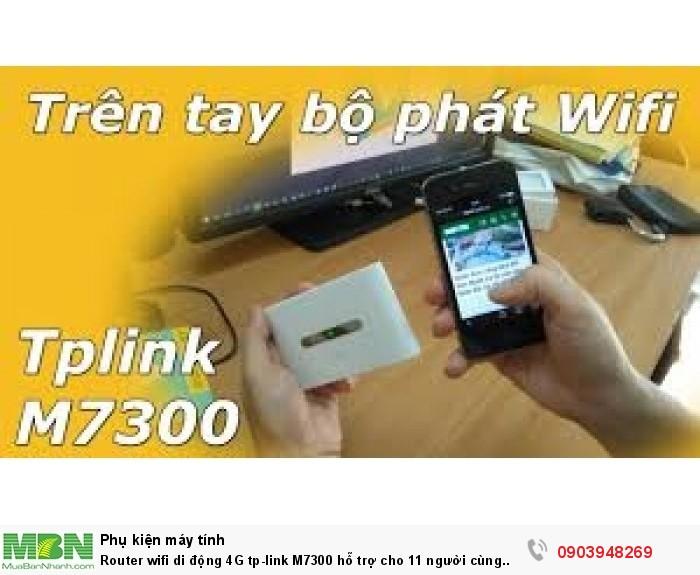 TP-LINK M7300 là thiết bị phát sóng wifi di động từ sim 4G tốc độ cao0