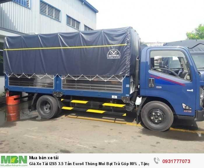 Giá xe tải IZ65 3.5 tấn euro4 thùng mui bạt - Hỗ trợ mua xe trả góp đến 80%