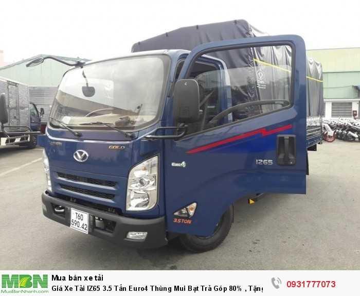 Giá xe tải IZ65 3.5 tấn euro4 thùng mui bạt - Chỉ cần khoảng 100 triệu có thể mua được xe