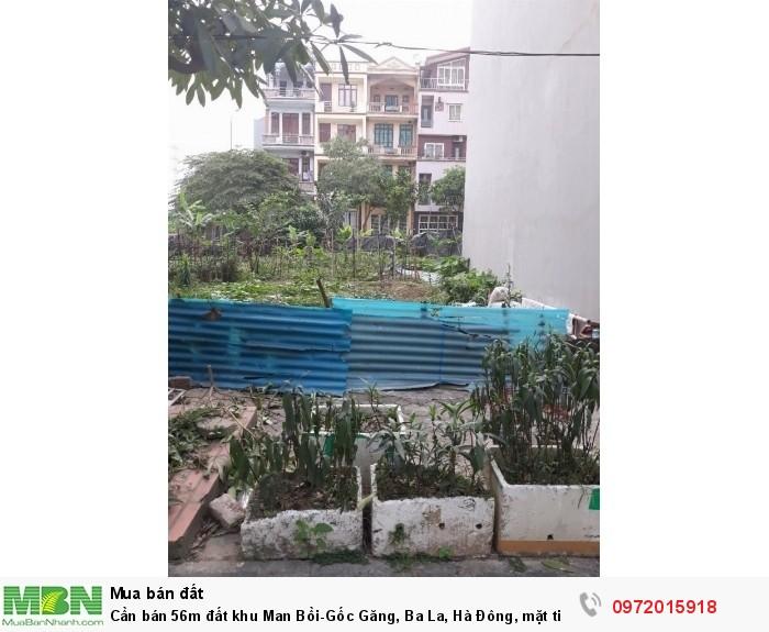 Cần bán 56m đất khu Man Bồi-Gốc Găng, Ba La, Hà Đông, mặt tiền 4,3m hướng Đông