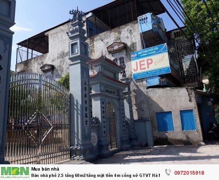 Bán nhà phố 2.5 tầng 60m2/tầng mặt tiền 4m cổng sở GTVT Hà Nam,