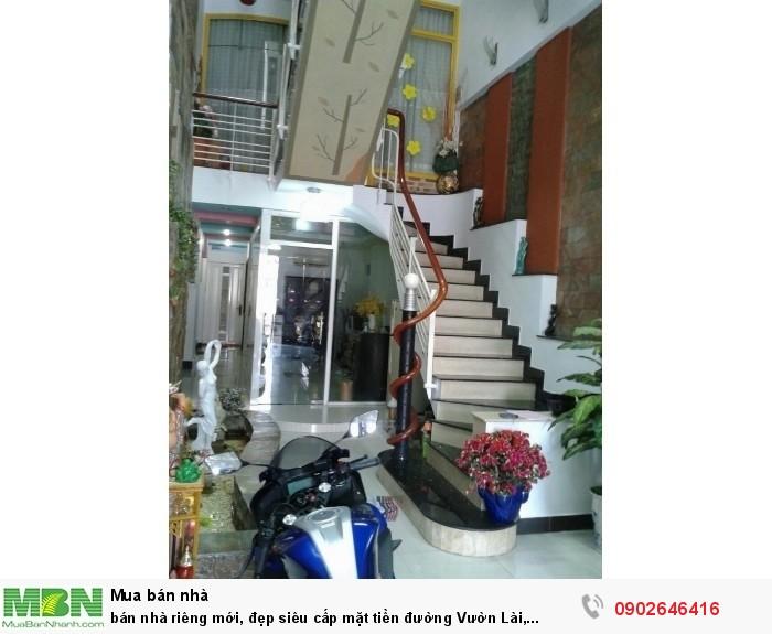 Bán nhà riêng mới, đẹp siêu cấp mặt tiền đường Vườn Lài, 4.1x24.6m, trệt+lửng+3 lầu+st