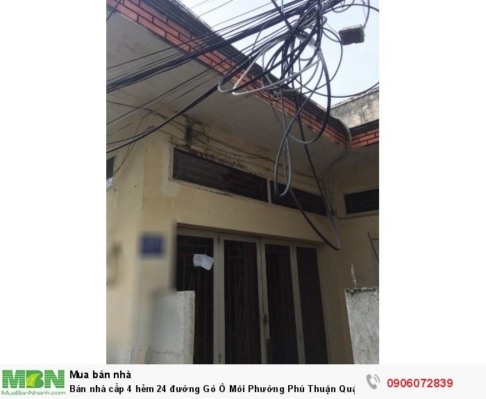 Bán nhà cấp 4 hẻm 24 đường Gò Ô Môi Phường Phú Thuận Quận 7, DT 53m, giá 2.4 tỷ