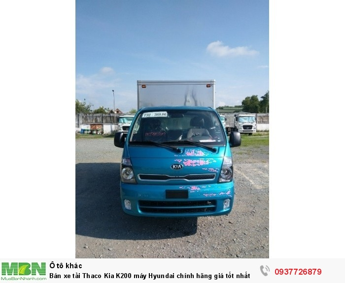 Bán xe tải Thaco Kia K200 máy Hyundai chính hãng giá tốt nhất