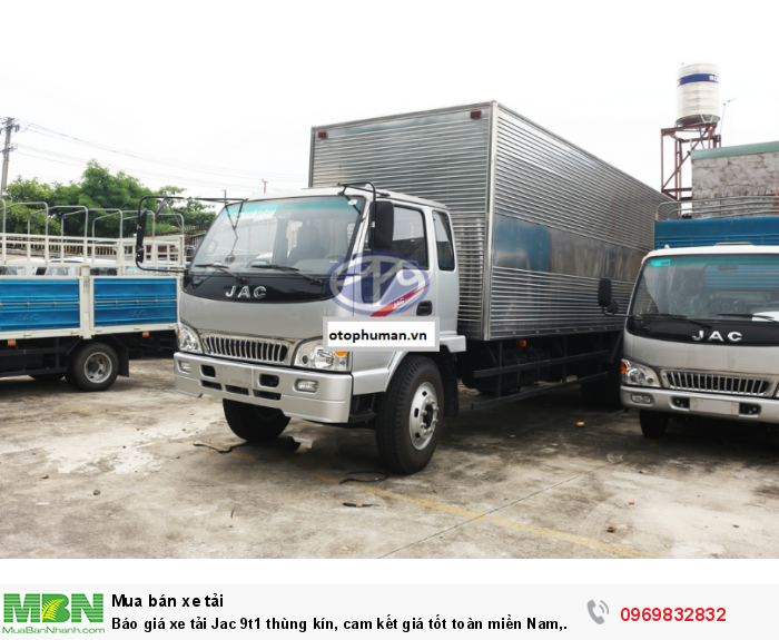 Báo giá xe tải Jac 9t1 thùng kín, cam kết giá tốt toàn miền Nam, có sẵn xe giao