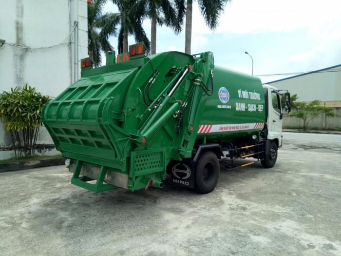 Thanh lý xe Ép rác 9 khối HINO FC - Mới - Vay 80%