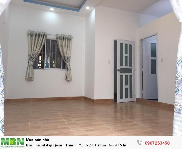 Bán nhà rất đẹp Quang Trung, P10, GV, DT:70m2, Giá 4,45 tỷ