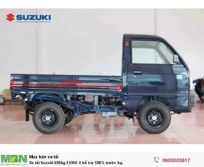 Xe tải Suzuki 650kg EURO 4 hỗ trợ 100% trước bạ.