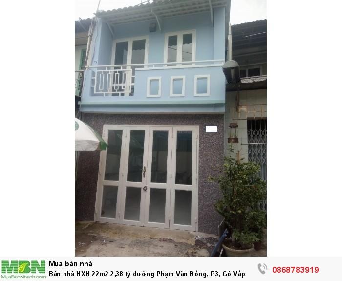 Bán nhà HXH 22m2 đường Phạm Văn Đồng, P3, Gò Vấp