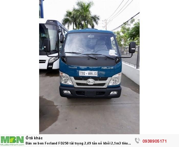 Bán xe ben Forland FD250 tải trọng 2,49 tấn số khối 2,1m3 tiêu chuẩn khí thải EURO4 0
