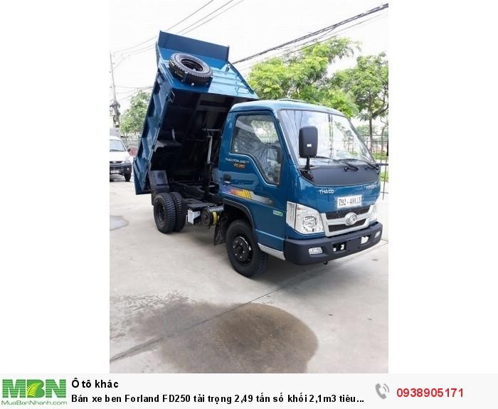 Bán xe ben Forland FD250 tải trọng 2,49 tấn số khối 2,1m3 tiêu chuẩn khí thải EURO4 1