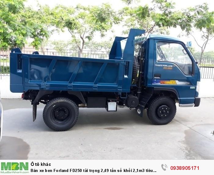 Bán xe ben Forland FD250 tải trọng 2,49 tấn số khối 2,1m3 tiêu chuẩn khí thải EURO4 3