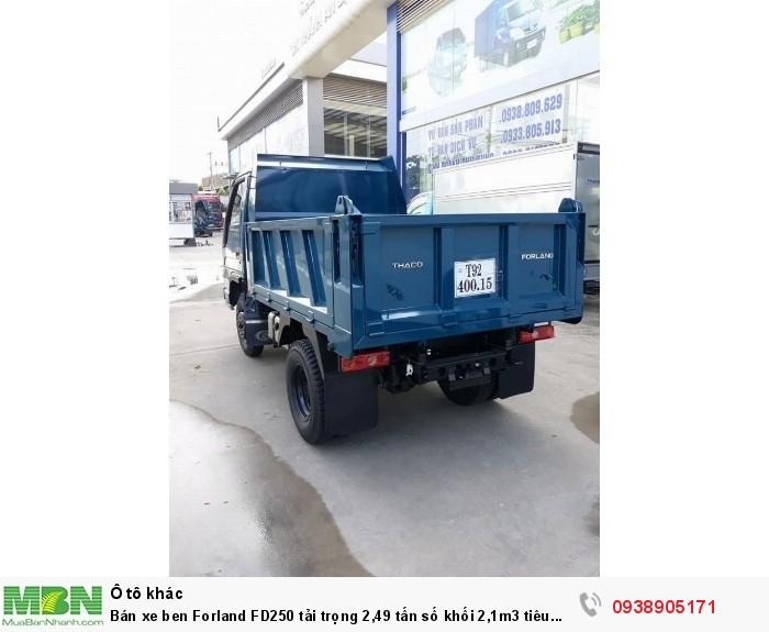 Bán xe ben Forland FD250 tải trọng 2,49 tấn số khối 2,1m3 tiêu chuẩn khí thải EURO4 5