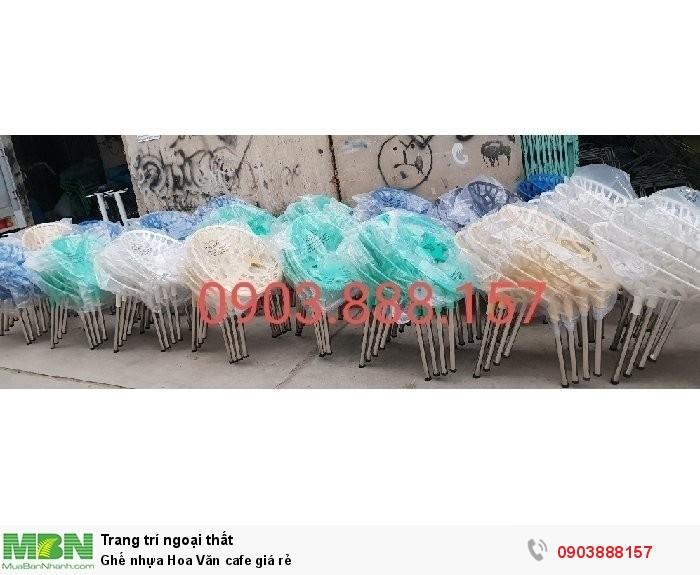 Ghế nhựa Hoa Văn cafe giá rẻ