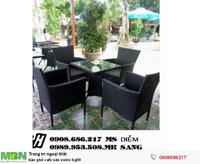 Bàn ghế cafe sân vườn hgh90