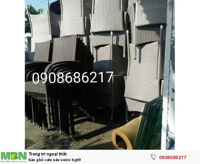 Bàn ghế cafe sân vườn hgh93