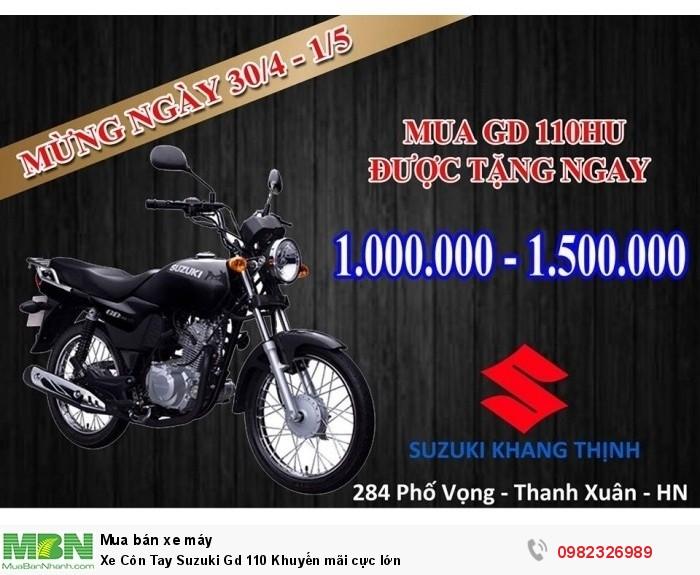 Xe Côn Tay Suzuki Gd 110 Khuyến mãi cực lớn 3