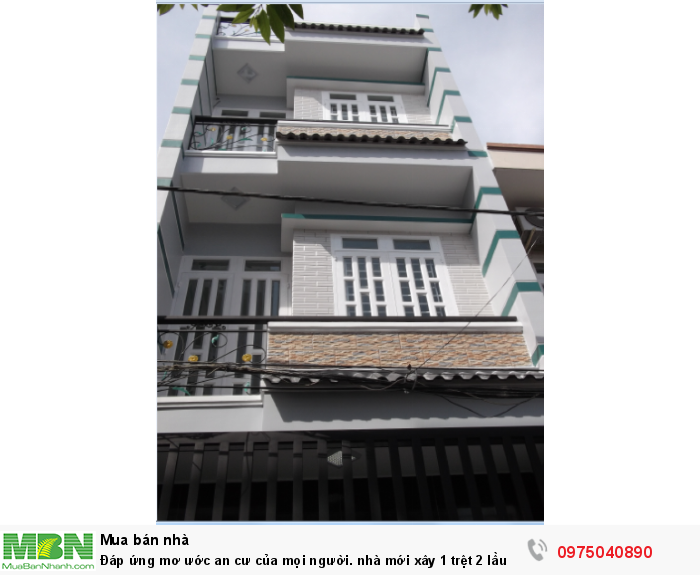 Đáp ứng mơ ước an cư của mọi người. nhà mới xây 1 trệt 2 lầu 4 phòng ngủ siêu rẻ gần ngay ngã 5 Vĩnh Lộc