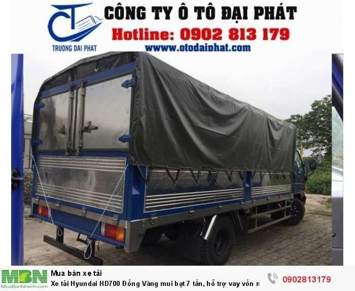 Xe tải Hyundai HD700 Đồng Vàng mui bạt 7 tấn, hỗ trợ vay vốn mua xe trả góp 80% 1