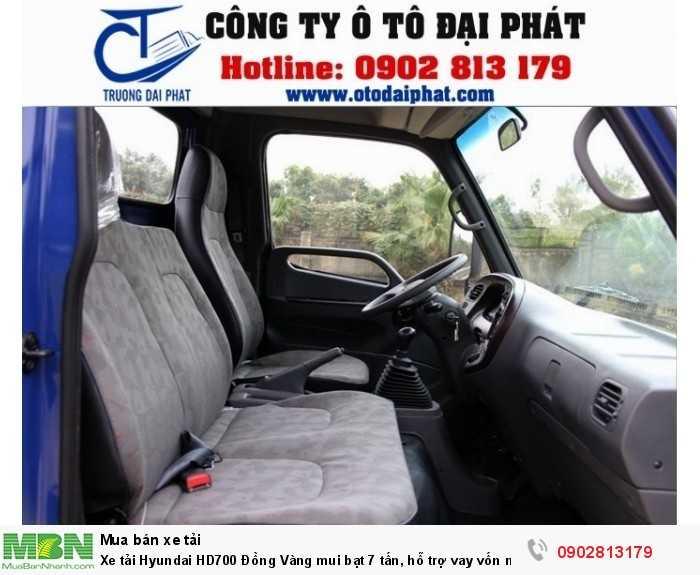 Xe tải Hyundai HD700 Đồng Vàng mui bạt 7 tấn, hỗ trợ vay vốn mua xe trả góp 80% 2