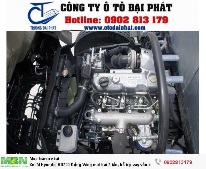 Xe tải Hyundai HD700 Đồng Vàng mui bạt 7 tấn, hỗ trợ vay vốn mua xe trả góp 80% 3
