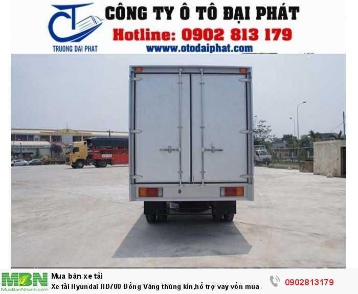 Xe tải Hyundai HD700 Đồng Vàng thùng kín,hỗ trợ vay vốn mua xe trả góp 80% 2