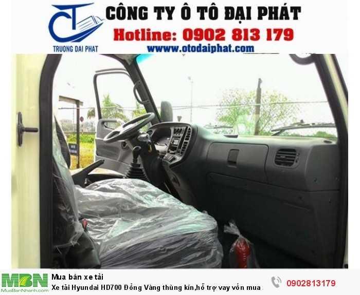 Xe tải Hyundai HD700 Đồng Vàng thùng kín,hỗ trợ vay vốn mua xe trả góp 80% 3