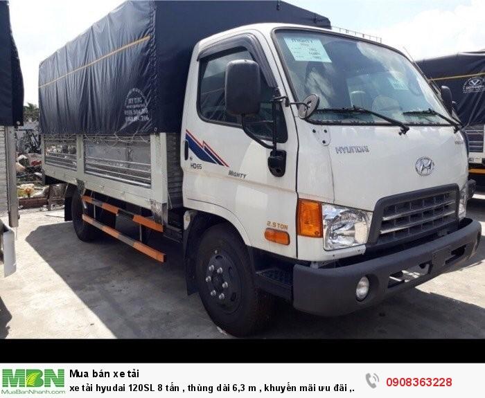 Xe tải hyudai 120SL 8 tấn , thùng dài 6,3 m, khuyến mãi ưu đãi, bao giá rẻ nhất thị trường, bán trả góp lên đến 80% qua ngân hàng
