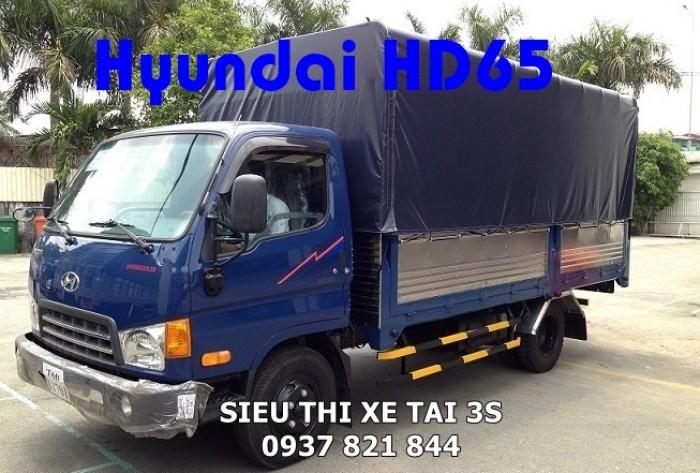 Hàng hiếm Hyundai HD65 tải 2,5 tấn - Hàng có sẵn Hồ Chí Minh - Tặng ĐỊNH VỊ - MÁY LẠNH - PHỤ KIỆN