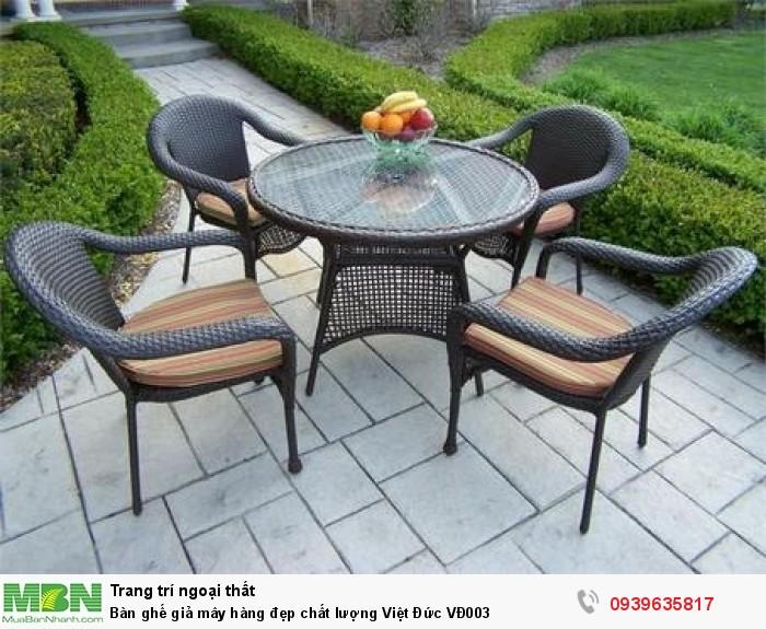 Bàn ghế giả mây hàng đẹp chất lượng Việt Đức VĐ003
