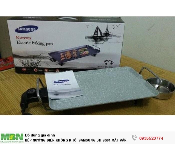Bếp Nướng Điện Không Khói Samsung Dh-Ss01 Mặt Vân Đá Gang Nguyên Khối0