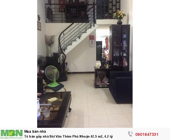 Tô bán gấp nhà Bùi Văn Thêm Phú Nhuận 42.5 m2, 4.2 tỷ