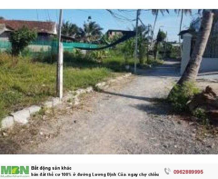 Bán đất thổ cư 100% ở đường Lương Định Của- ngay chợ chiều vĩnh ngoc- sổ đỏ
