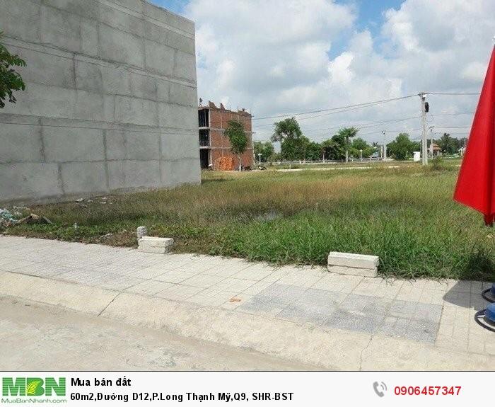 60m2,Đường D12,P.Long Thạnh Mỹ,Q9, SHR-BST