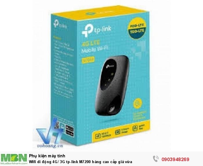 Phát Wifi Di Động 4G LTE TP-Link M7200  tần số 2.4GHz tốc độ không dây 300Mbps