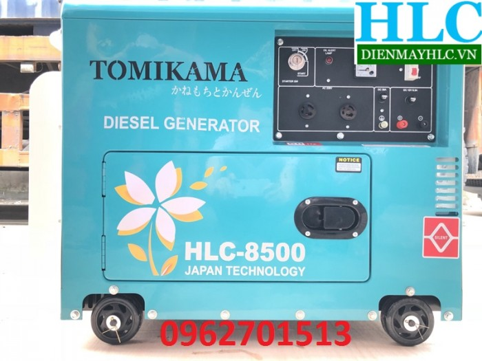 Máy phát điện chạy dầu Tomikama HLC 8500 cách âm chống ồn tiết kiệm nhiên liệu3