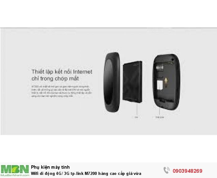 Trọn bộ gồm có: Wi-Fi Di động 4G LTE M7200, Cáp sạc OTG USB, Hướng dẫn cài đặt nhanh, Pin 2000mAh.