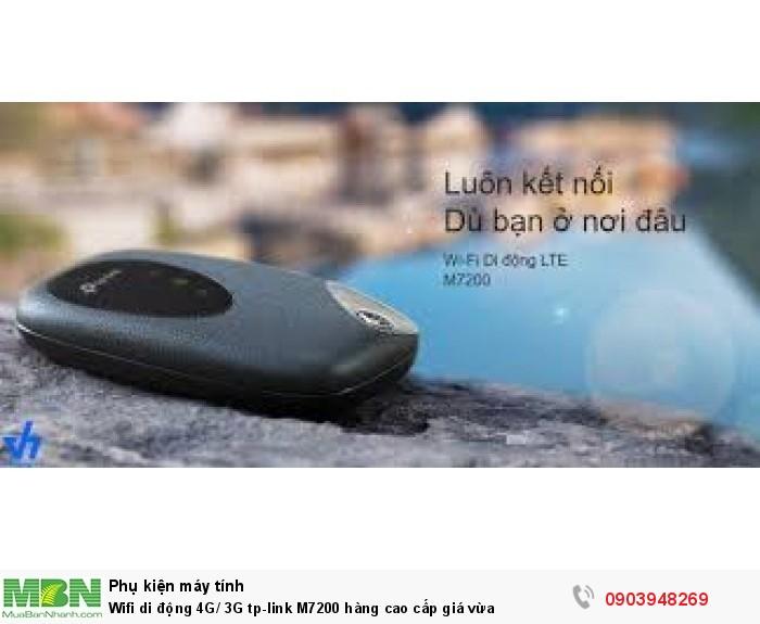 TP-Link M7200  phát Wi-Fi di động ở bất cứ nơi đâu, mọi lúc mọi nơi.