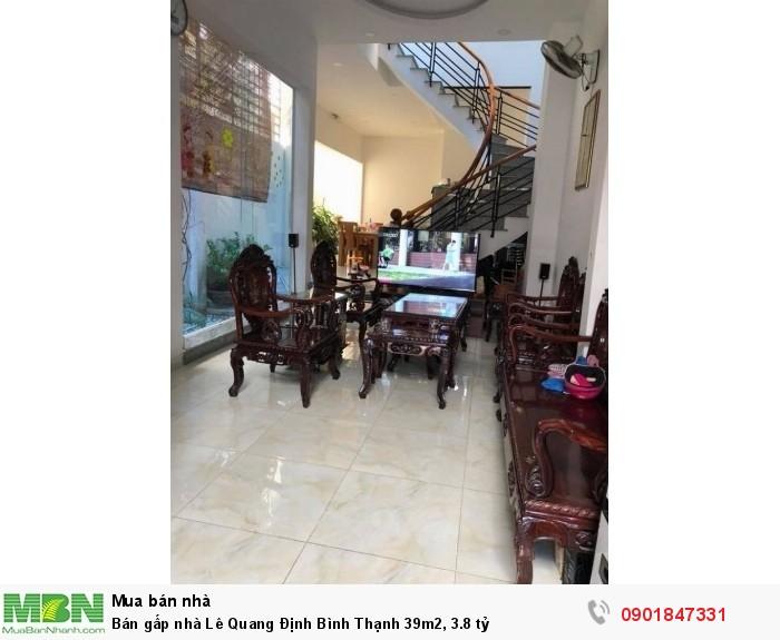 Bán gấp nhà Lê Quang Định Bình Thạnh 39m2, 3.8 tỷ